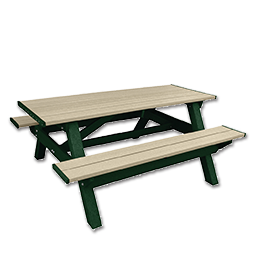 Picture of DSO- DOGIPARK 6' PICNIC TABLE - GREEN/SAND