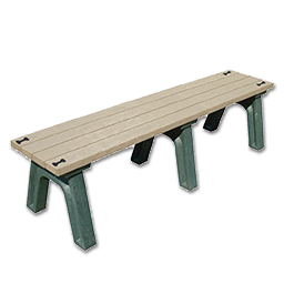 Picture of DSO- DOGIPARK 6' POLY BENCH WITH BONES - GREEN/SAND