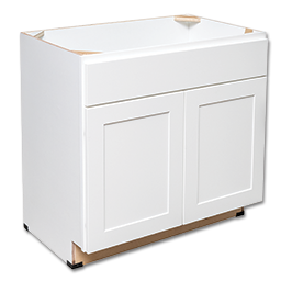 "Picture of VANITY SINK BASE CABINET 24"" W X 30 1/2"" H X 21"" D WHITE"