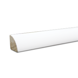 Picture of QUARTER ROUND-PRIMED SOLID PINE MOLDING-8 FT LENGTHS