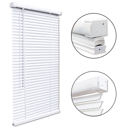 CORDLESS MINI BLIND 1.5 HEADRAIL - 47X48 - WHITE