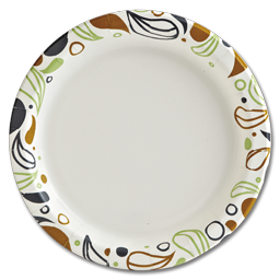 "Picture of 9"" PRINTED PAPER PLATES - CASE OF 1000"