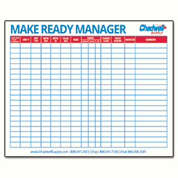 Picture of MAKE READY DRY-ERASE BOARD – 4'X3'